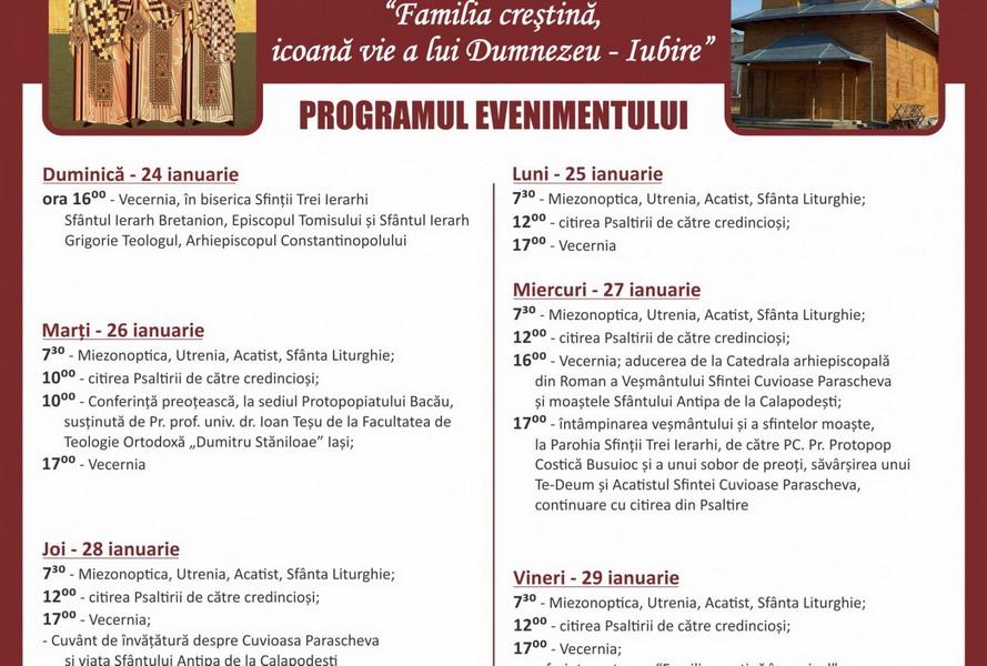 Program liturgic – Sfintii Trei Ierarhi – var. finala