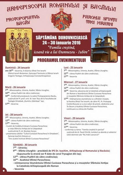 Program liturgic - Sfintii Trei Ierarhi - var. finala