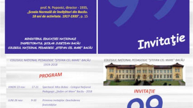 Invitaţie – Zilele Şcolii 2018-2019